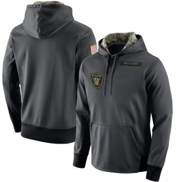 Men's Nike Las Vegas Raiders Anthracite Salute to Service Player Performance Hoodie -
