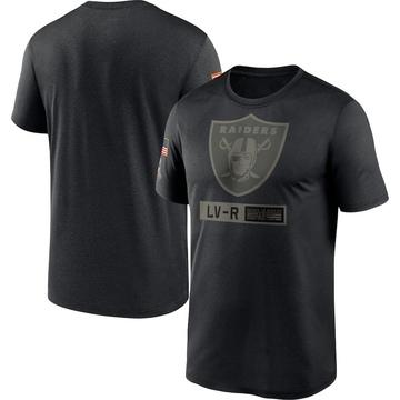 Men's Nike Las Vegas Raiders Black 2020 Salute to Service Team Logo Performance T-Shirt -