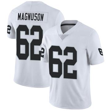 Men's Nike Las Vegas Raiders Erik Magnuson White Vapor Untouchable Jersey - Limited