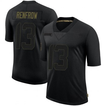 Men's Nike Las Vegas Raiders Hunter Renfrow Black 2020 Salute To Service Jersey - Limited
