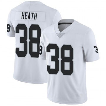 Men's Nike Las Vegas Raiders Jeff Heath White Vapor Untouchable Jersey - Limited