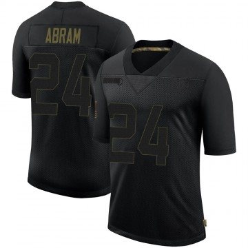 Men's Las Vegas Raiders Johnathan Abram Black 2020 Salute To Service Jersey - Limited