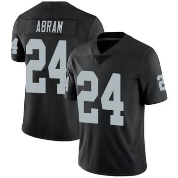 Men's Nike Las Vegas Raiders Johnathan Abram Black Team Color Vapor Untouchable Jersey - Limited