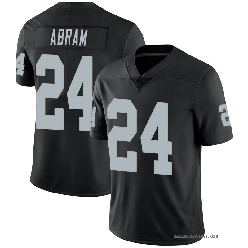 Men's Nike Las Vegas Raiders Johnathan Abram Black Team Color Vapor Untouchable Jersey - Limited