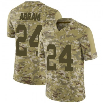 Men's Las Vegas Raiders Johnathan Abram Camo 2018 Salute to Service Jersey - Limited