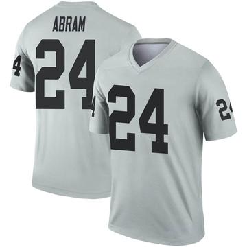 Men's Nike Las Vegas Raiders Johnathan Abram Inverted Silver Jersey - Legend