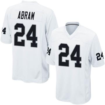 Men's Nike Las Vegas Raiders Johnathan Abram White Jersey - Game