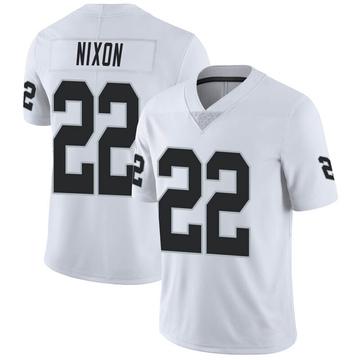Men's Nike Las Vegas Raiders Keisean Nixon White Vapor Untouchable Jersey - Limited