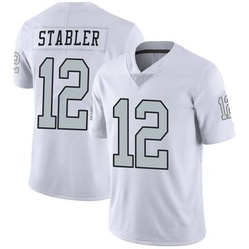 Men's Las Vegas Raiders Ken Stabler White Color Rush Jersey - Limited