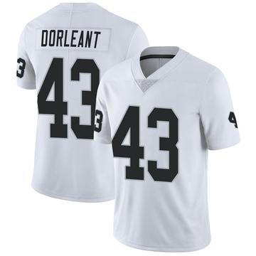 Men's Nike Las Vegas Raiders Makinton Dorleant White Vapor Untouchable Jersey - Limited