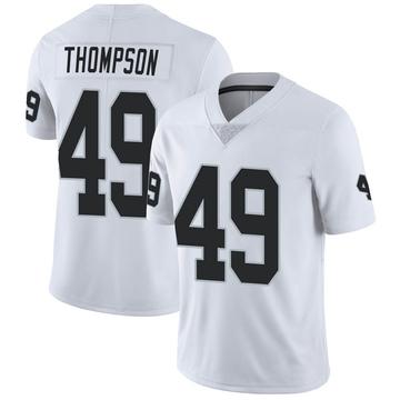 Men's Nike Las Vegas Raiders Mark Thompson White Vapor Untouchable Jersey - Limited