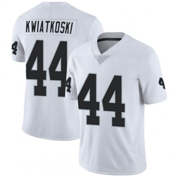 Men's Nike Las Vegas Raiders Nick Kwiatkoski White Vapor Untouchable Jersey - Limited