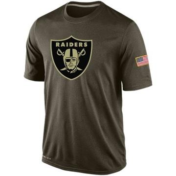 Men's Nike Las Vegas Raiders Olive Salute To Service KO Performance Dri-FIT T-Shirt -