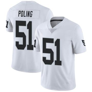 Men's Nike Las Vegas Raiders Quentin Poling White Vapor Untouchable Jersey - Limited