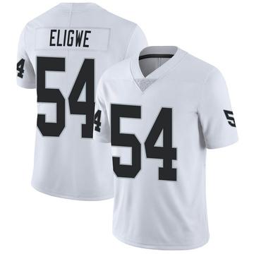 Men's Nike Las Vegas Raiders Ukeme Eligwe White Vapor Untouchable Jersey - Limited