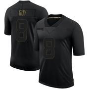 Men's Nike Las Vegas Raiders Wilson Ray Guy Black 2020 Salute To Service Jersey - Limited