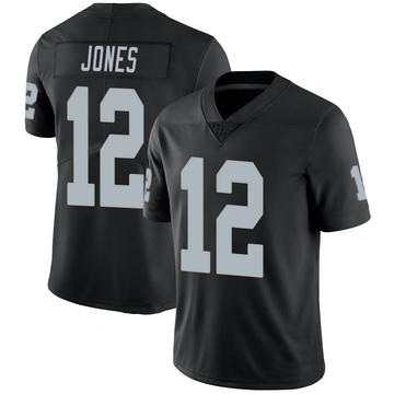 Men's Las Vegas Raiders Zay Jones Black 100th Vapor Jersey - Limited