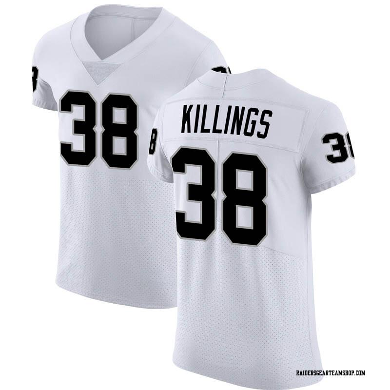 huge discount 479b9 da94c Men's Nike Oakland Raiders D.J. Killings White Vapor Untouchable Jersey -  Elite