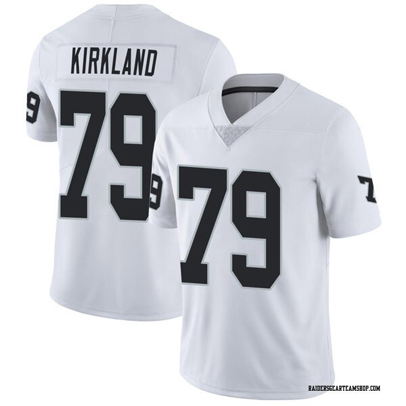 check out 1537d 66298 Men's Nike Oakland Raiders Denver Kirkland White Vapor Untouchable Jersey -  Limited