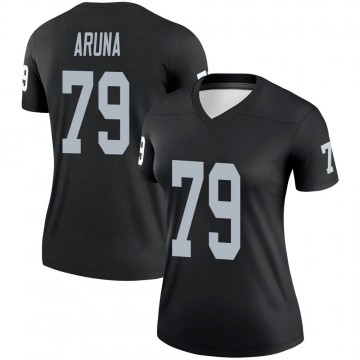 Women's Nike Las Vegas Raiders Ade Aruna Black Jersey - Legend