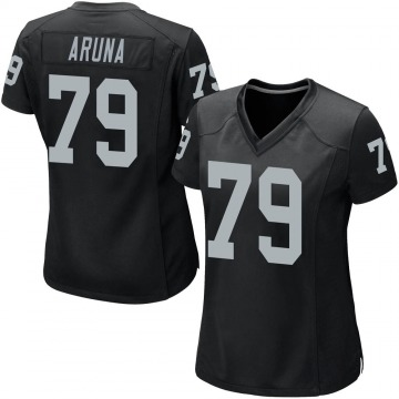 Women's Nike Las Vegas Raiders Ade Aruna Black Team Color Jersey - Game