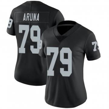 Women's Nike Las Vegas Raiders Ade Aruna Black Team Color Vapor Untouchable Jersey - Limited