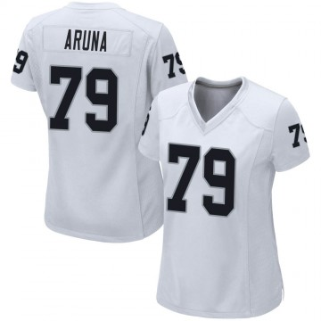 Women's Nike Las Vegas Raiders Ade Aruna White Jersey - Game