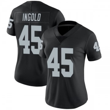 Women's Nike Las Vegas Raiders Alec Ingold Black Team Color Vapor Untouchable Jersey - Limited