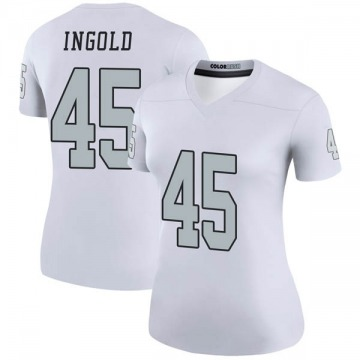 Women's Nike Las Vegas Raiders Alec Ingold White Color Rush Jersey - Legend