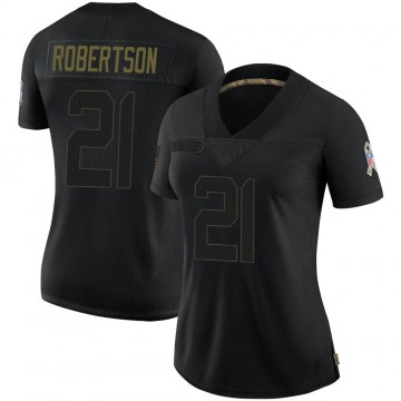 Women's Nike Las Vegas Raiders Amik Robertson Black 2020 Salute To Service Jersey - Limited