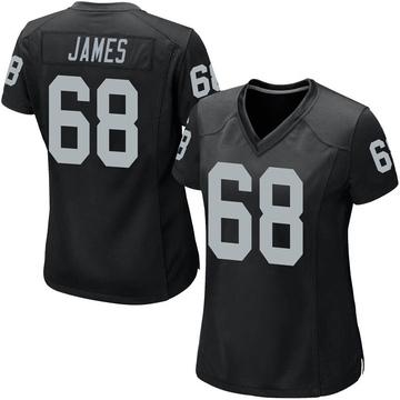 Women's Nike Las Vegas Raiders Andre James Black Team Color Jersey - Game