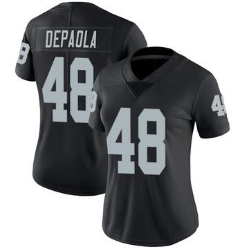 Women's Nike Las Vegas Raiders Andrew DePaola Black Team Color Vapor Untouchable Jersey - Limited