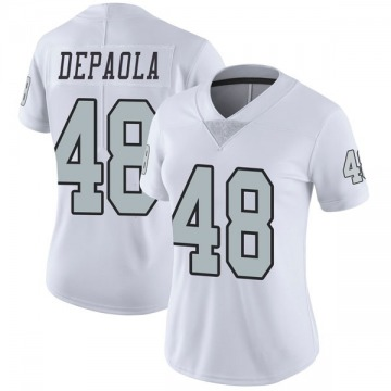 Women's Nike Las Vegas Raiders Andrew DePaola White Color Rush Jersey - Limited