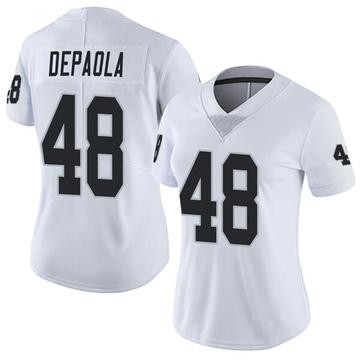 Women's Nike Las Vegas Raiders Andrew DePaola White Vapor Untouchable Jersey - Limited