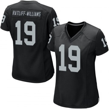 Women's Nike Las Vegas Raiders Anthony Ratliff-Williams Black Team Color Jersey - Game