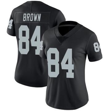 Women's Nike Las Vegas Raiders Antonio Brown Black Team Color Vapor Untouchable Jersey - Limited