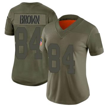 Women's Nike Las Vegas Raiders Antonio Brown Brown Camo 2019 Salute to Service Jersey - Limited