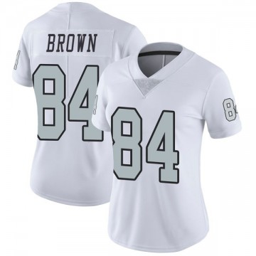 Women's Nike Las Vegas Raiders Antonio Brown White Color Rush Jersey - Limited