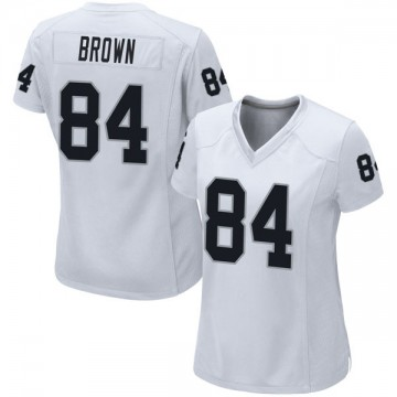 Women's Nike Las Vegas Raiders Antonio Brown White Jersey - Game