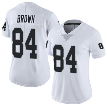 Women's Nike Las Vegas Raiders Antonio Brown White Vapor Untouchable Jersey - Limited