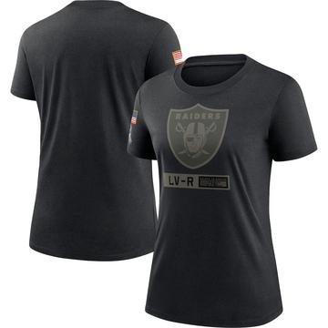 Women's Nike Las Vegas Raiders Black 2020 Salute To Service Performance T-Shirt -