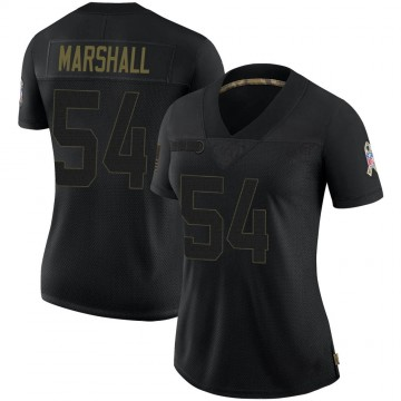 Women's Nike Las Vegas Raiders Brandon Marshall Black 2020 Salute To Service Jersey - Limited
