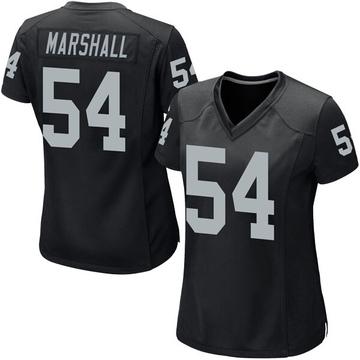 Women's Nike Las Vegas Raiders Brandon Marshall Black Team Color Jersey - Game
