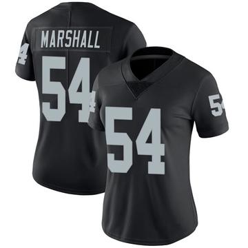 Women's Nike Las Vegas Raiders Brandon Marshall Black Team Color Vapor Untouchable Jersey - Limited