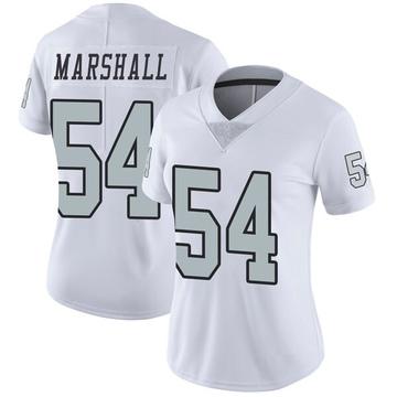Women's Nike Las Vegas Raiders Brandon Marshall White Color Rush Jersey - Limited