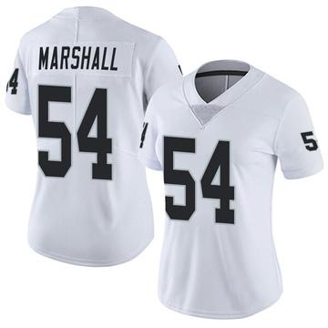 Women's Nike Las Vegas Raiders Brandon Marshall White Vapor Untouchable Jersey - Limited
