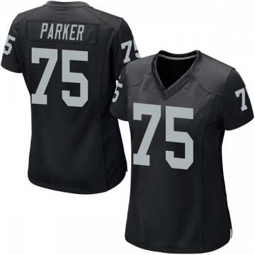 Women's Nike Las Vegas Raiders Brandon Parker Black Team Color Jersey - Game