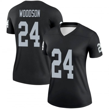 Women's Nike Las Vegas Raiders Charles Woodson Black Jersey - Legend