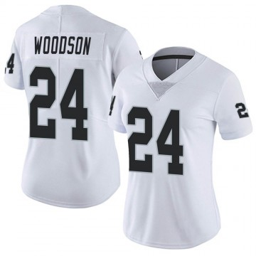 Women's Nike Las Vegas Raiders Charles Woodson White Vapor Untouchable Jersey - Limited