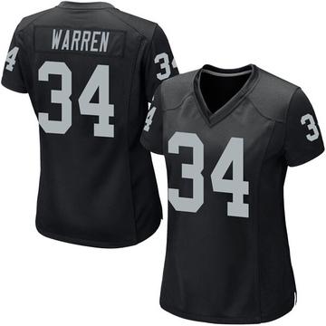 Women's Nike Las Vegas Raiders Chris Warren Black Team Color Jersey - Game